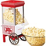 Nostalgia OFP521 Vintage Healthy Hot-Air Tabletop Popcorn Maker, Makes 12 Cups, with Kernel Measuring Scoop, Oil Free, Perfec