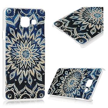 Lanveni® Gemalt Blau Blumen Tribal Muster PC Hardcase Transparent ...