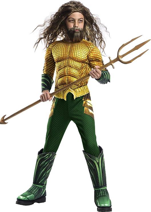 Avengers - Disfraz de Aquaman Premium, para niños, 8-10 años ...