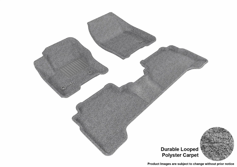 3D MAXpider Complete Set Custom Fit Floor Mat for Select Ford Escape Models Black L1FR05602209 Classic Carpet