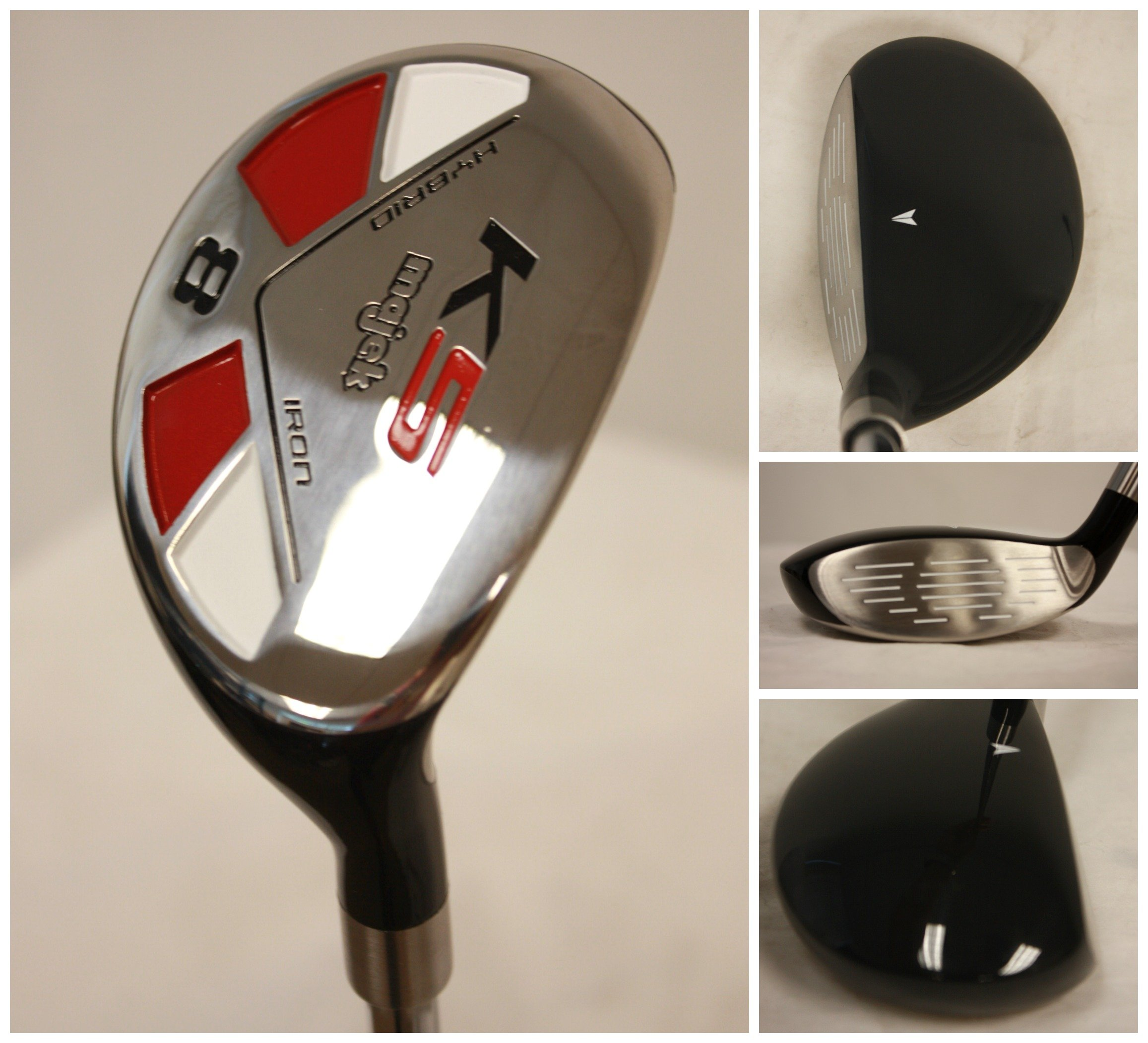 "Senior Men's Majek Golf All Hybrid Complete Full Set, which includes: #3, 4, 5, 6, 7, 8, 9, PW Senior Flex Total of 8 Right Handed New Rescue Utility ""A"" Flex Clubs by Majek (Image #2)"