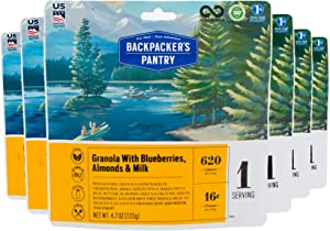 Backpacker's Pantry Granola with Blueberries Almonds & Milk, 1 Servings Per Pouch