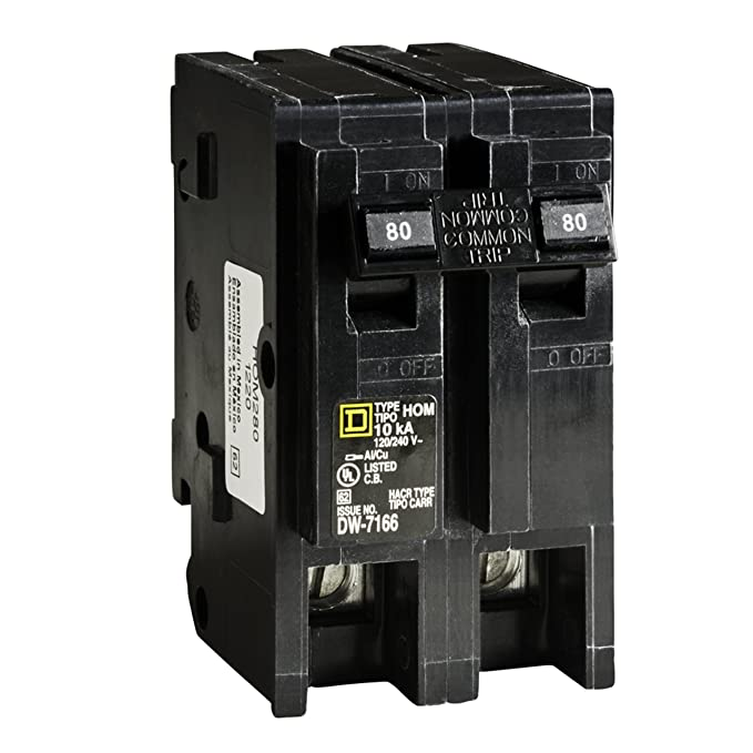 Square D by Schneider Electric HOM280CP Homeline 80-Amp Two-Pole Circuit Breaker