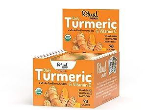 Ritual Energy Daily Turmeric Whole-Food Immunity Bite, 10 Count