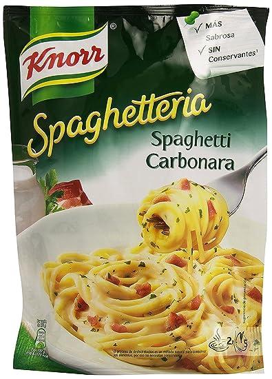 Knorr - Platos Spaghetti Carbonara, 167 gr - [Pack de 5]