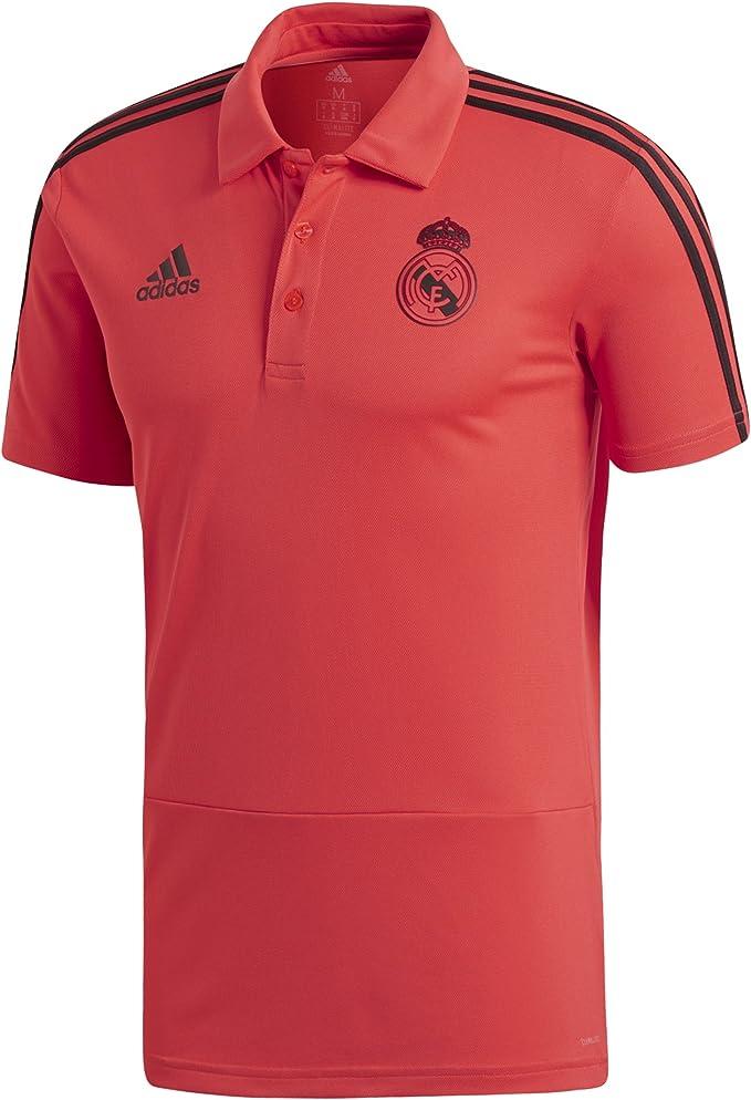 adidas Real Madrid EU Polo, Hombre, Naranja (Correa/Negro), 2XL ...