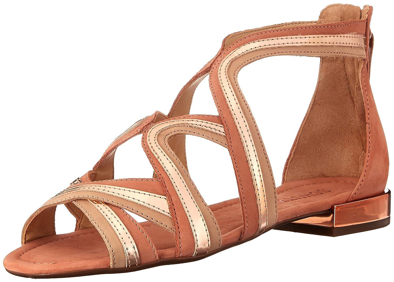 SCHUTZ Women's Bayenne Gladiator Sandal B01M8KF8B7 8.5 B(M) US|Desert/Platina/Amber Light