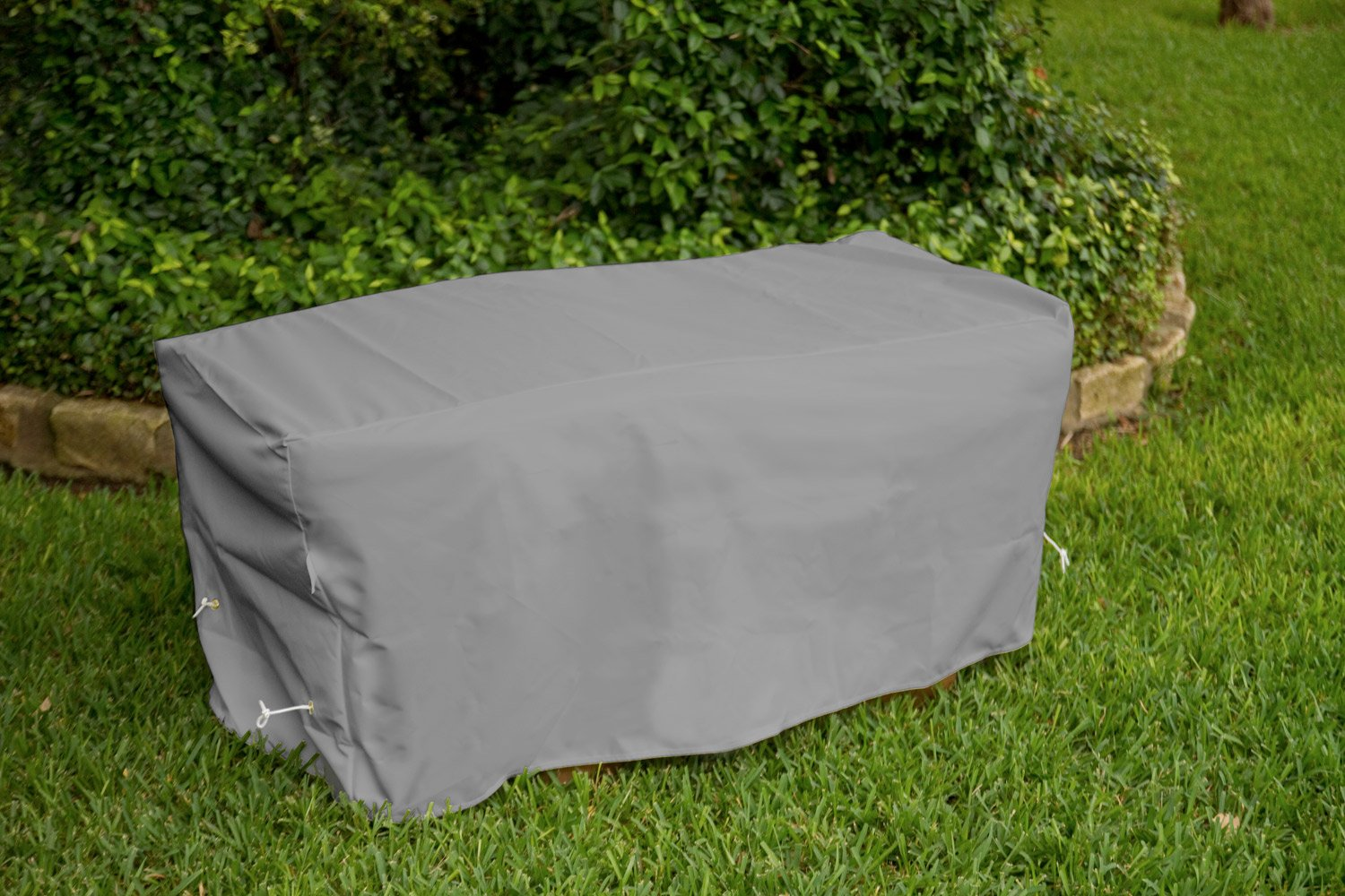 KoverRoos Weathermax 84214 6-Feet Garden Seat Cover, 72-Inch Width by 28-Inch Diameter by 18-Inch Height, Charcoal by KOVERROOS (Image #3)