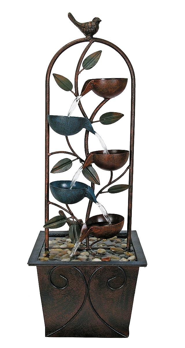 Natures Garden Cascade Cups Metal Fountain
