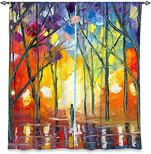 Dia Noche WCUJessilynParkReflectionsoftheSoul6 Unlined Window Curtains, 80W x 82H in