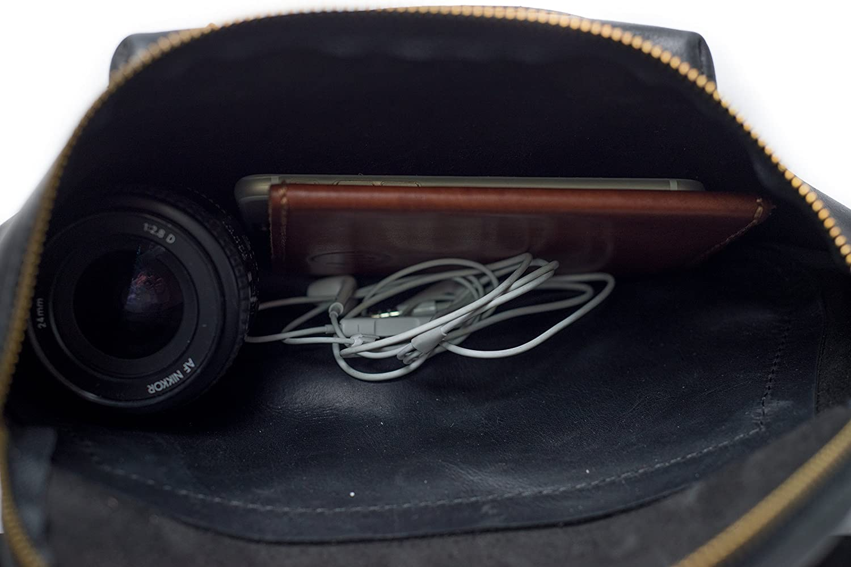 InCarne Leather Unisex Waist Bag Fanny Pack Unisex Soft Leather Belt Bag Bum Bag 07002 Brown