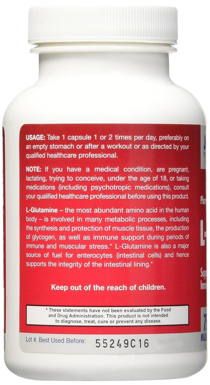 L-glutamina, 750 mg, 120 cápsulas - Jarrow Formulas: Amazon.es: Salud y cuidado personal