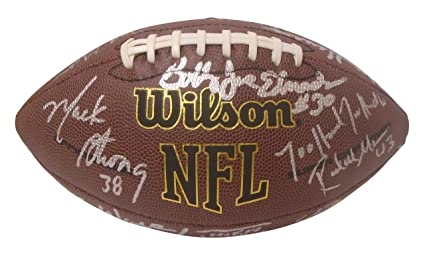 bf21e80bb Seattle Seahawks Legends and Alumni Autographed Hand Signed NFL Wilson  Football with Proof Photo of Signing