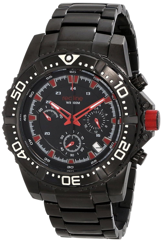 Red Line – rl-50030vk-bb-11rd – Armbanduhr – Quarz Chronograph – Armband Edelstahl schwarz