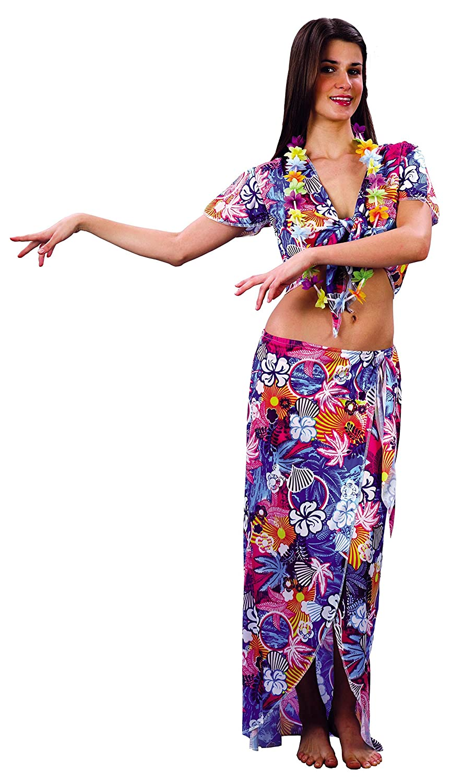 Rire et Confetti Fibhaw003 - Disfraz de hawaiana para mujer (talla ...