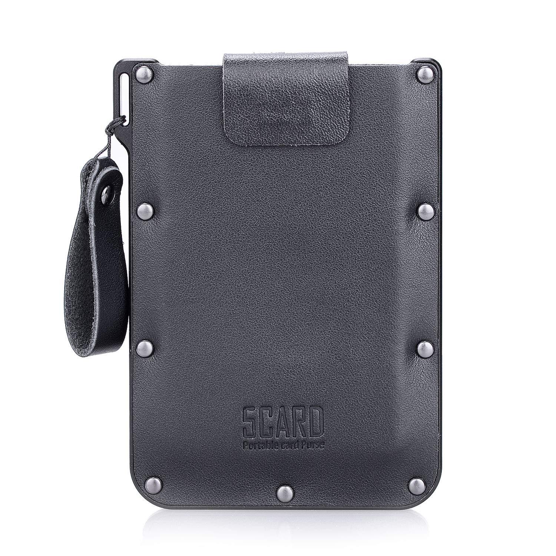 CDM product Ultra-slim leather Travel Card Holder Case, Minimalist Travel Wallet For Credit Cards & More big image