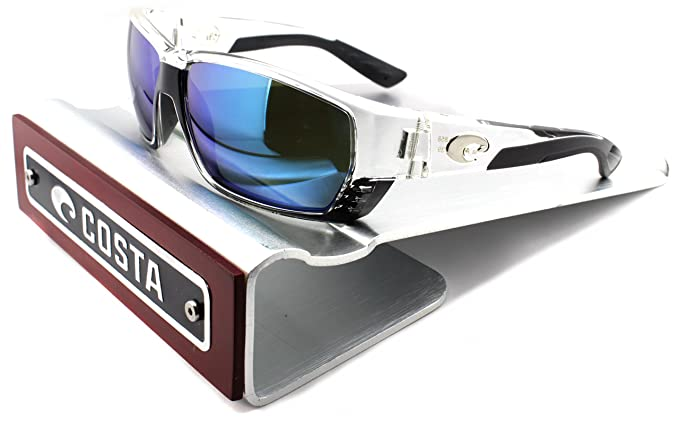 146f7fa706d Costa Del Mar Tuna Alley 580G Crystal Frame   Blue Mirror Lens  (TA39 OBMGLP)  Amazon.co.uk  Clothing