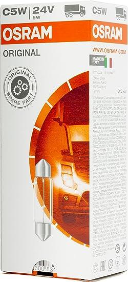 Osram 6423 Original Sofittenlampe Innenbeleuchtung C5w 24v 1 Lampe Anzahl 10 Auto