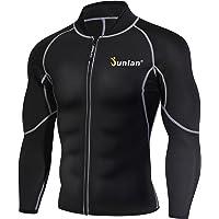 Men Sweat Neoprene Weight Loss Sauna Suit Workout Shirt Body Shaper Fitness Jacket Gym Top Clothes Shapewear Long Sleeve