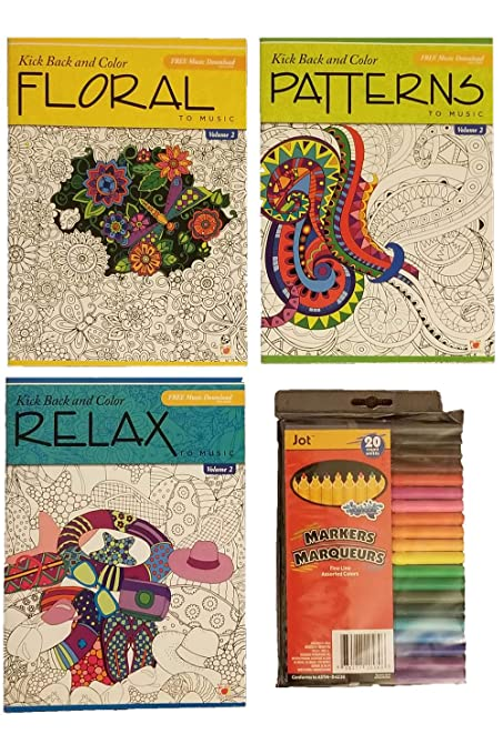 Amazon com: Kick Back and Color Adult Coloring Books with