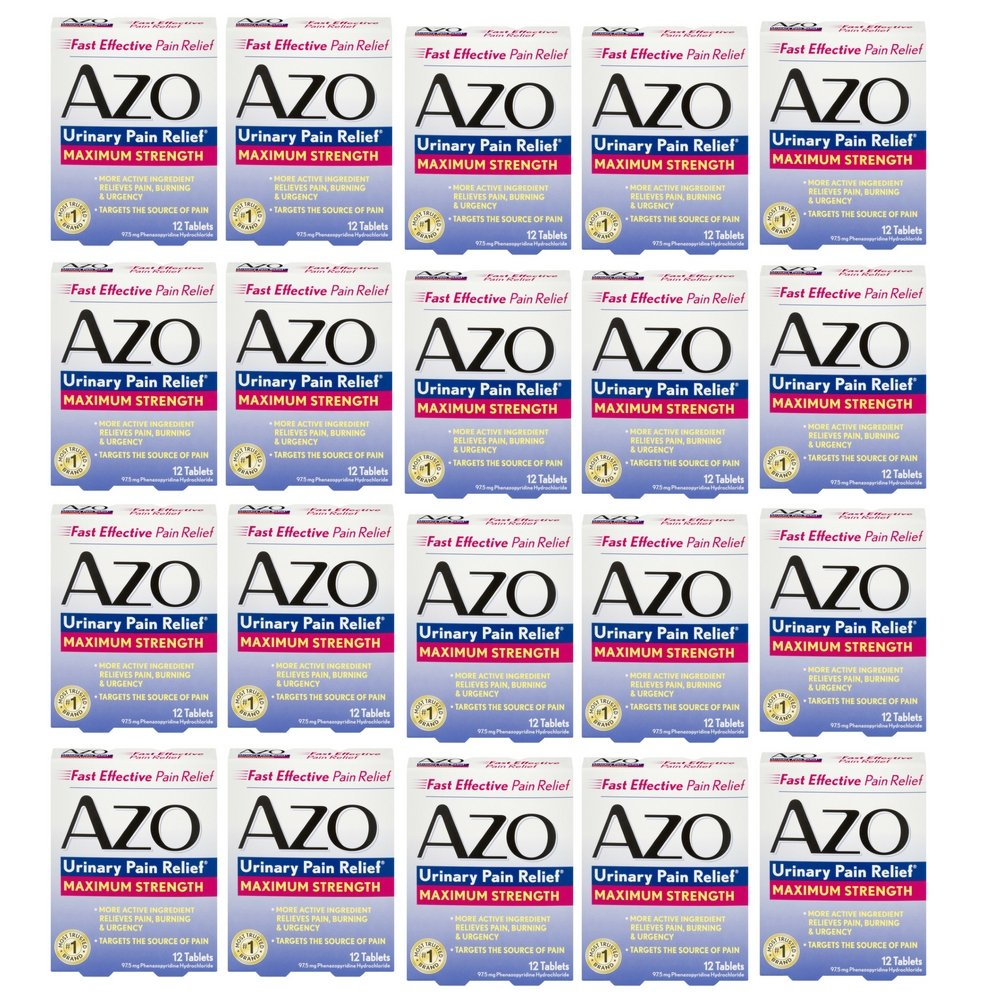 Urinary Pain Relief, Maximum Strength AZO 12 Tabs (20 pack)