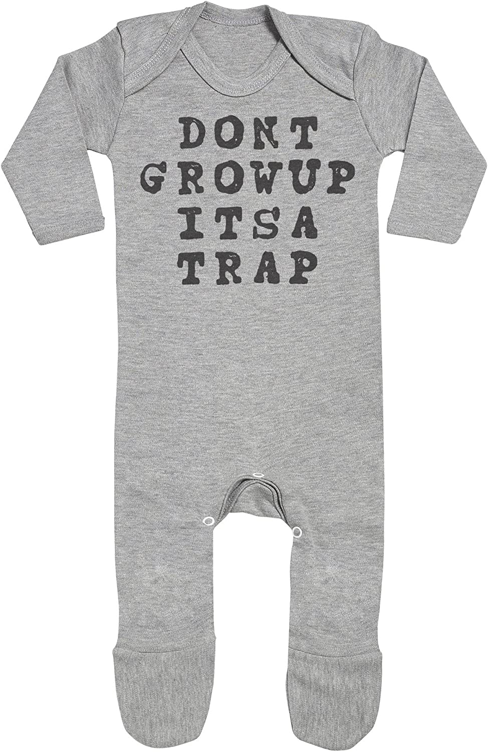 Baby Footie Baby Romper Dont Grow Up Baby Rompersuit SR