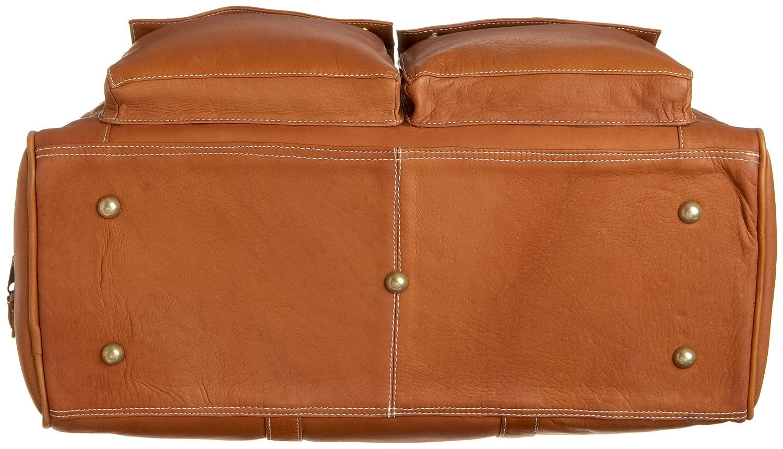 Authentic Luxury Leather Designer Fashion Top Quality Leather Latico Leathers Basics Two Pocket Duffel