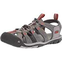 KEEN Australia Men's Clearwater CNX Trekking Sandal, Grey Flannel/Potters Clay