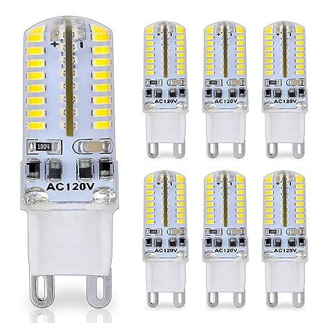 Bombilla LED con casquillo de patillas G9, 25 W Cristal Luz halógena Bombillas de repuesto, ...