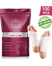 100 Pcs Premium Foot Pads I All Natural Foot Patches - Improves Metabolism & Quality of Sleep, Relieves Foot Pain, Stress & Toxins, Increases Energy Level - Health Product for Feet