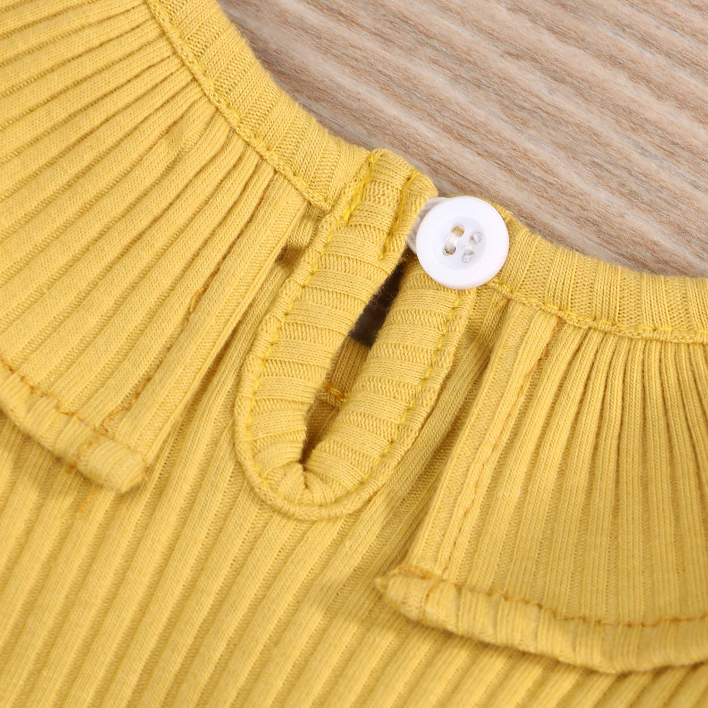 Newborn Baby Girl Romper 0-12M Solid Color Onesie for Girls Long Sleeve Jumpsuit Bodysuit Autumn Winter Clothes Set
