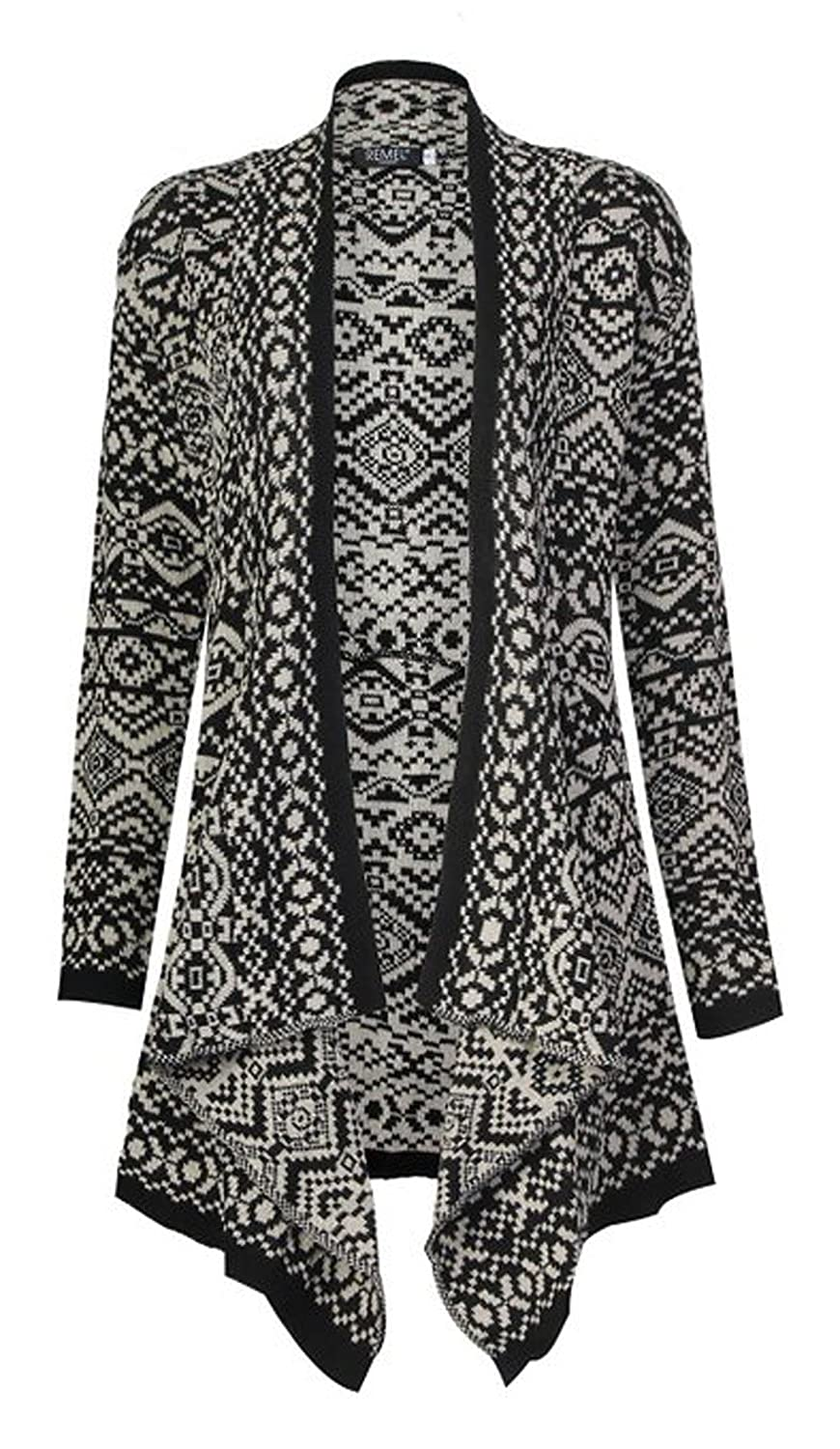 FashionMark Women's Tribal Knitted Cardigan