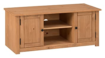Credenza 2 Ante Ikea : Mercers furniture panama 2 door flat screen tv unit pine: amazon