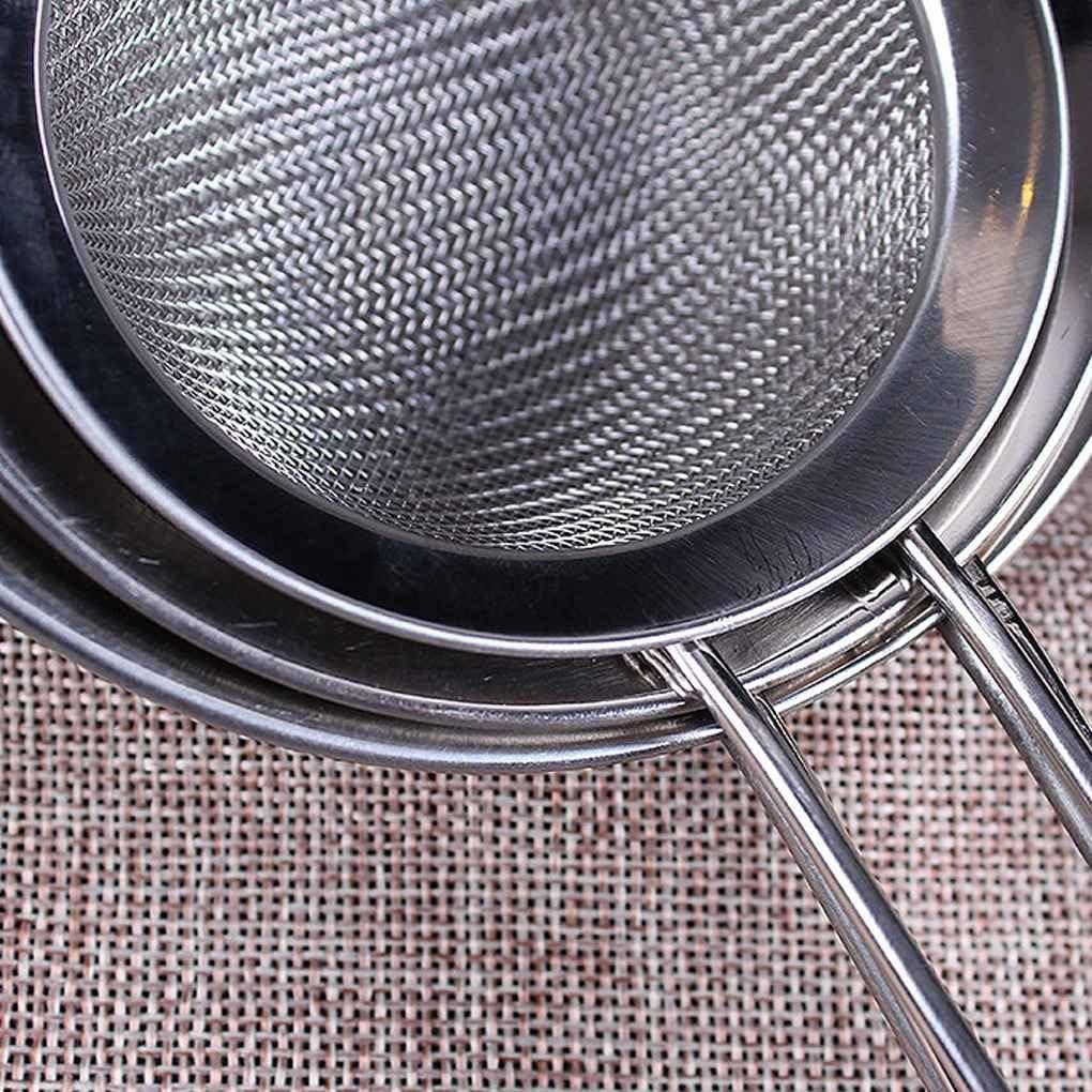 Lidahaotin Accueil Cuisine Cr/épine dhuile Outil de Treillis m/étallique en Acier Inoxydable Farine Tamiser Sieve Passoire 7cm