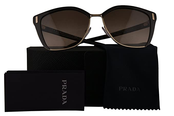 1630fc7b28 Image Unavailable. Image not available for. Colour  Prada Authentic  Sunglasses PR56TS Brown Pale Gold w Brown Gradient Lens DHO3D0 SPR56T (57mm