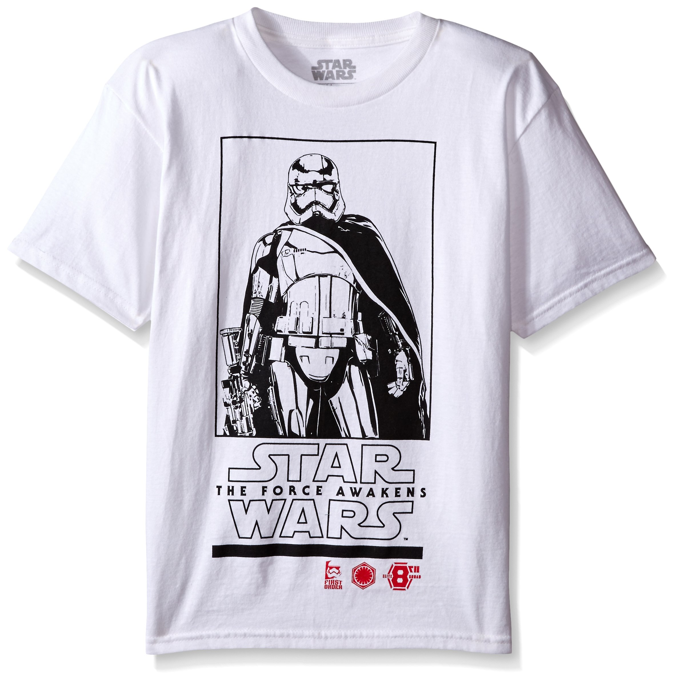 Star Wars Little Boys' Stormtrooper T-Shirt, Fresh White, 5/6
