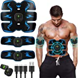 Abs Stimulator Abdominal Muscle,EMS ABS Trainer Body Toning Fitness, USB Rechargeable Toning Belt ABS Fit Weight Muscle…