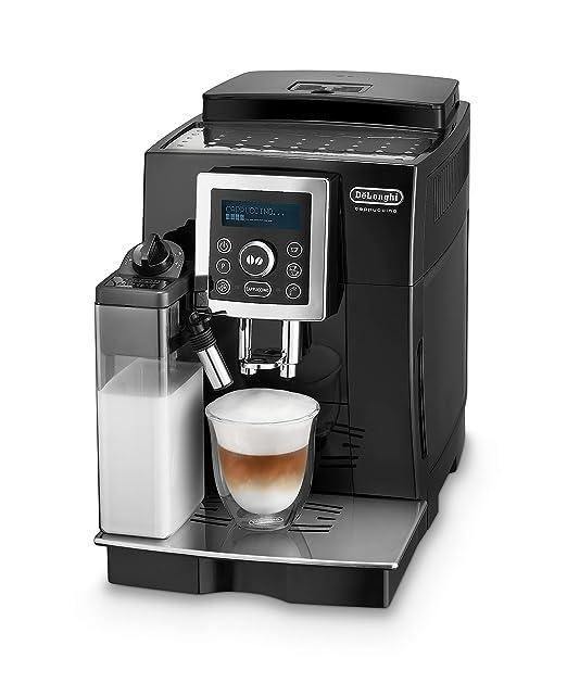 DeLonghi One Touch Cafetera automática independiente con portafiltro, 1450 W, 1.8 L, 15 bares, plástico, negro