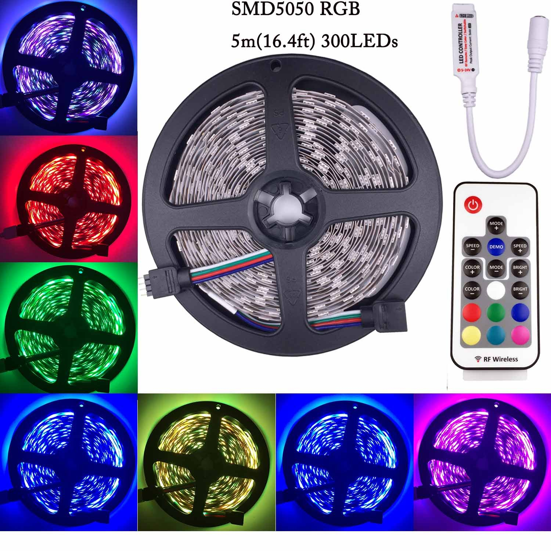 Kabenjee RGB LED Strip Light,SMD5050 RGB 4pin Tape Light
