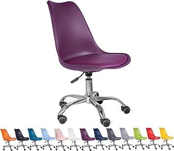 All About Chairs Tutto Su Sedie Tulip Sedia Da Ufficio Purple Amazon It Casa E Cucina