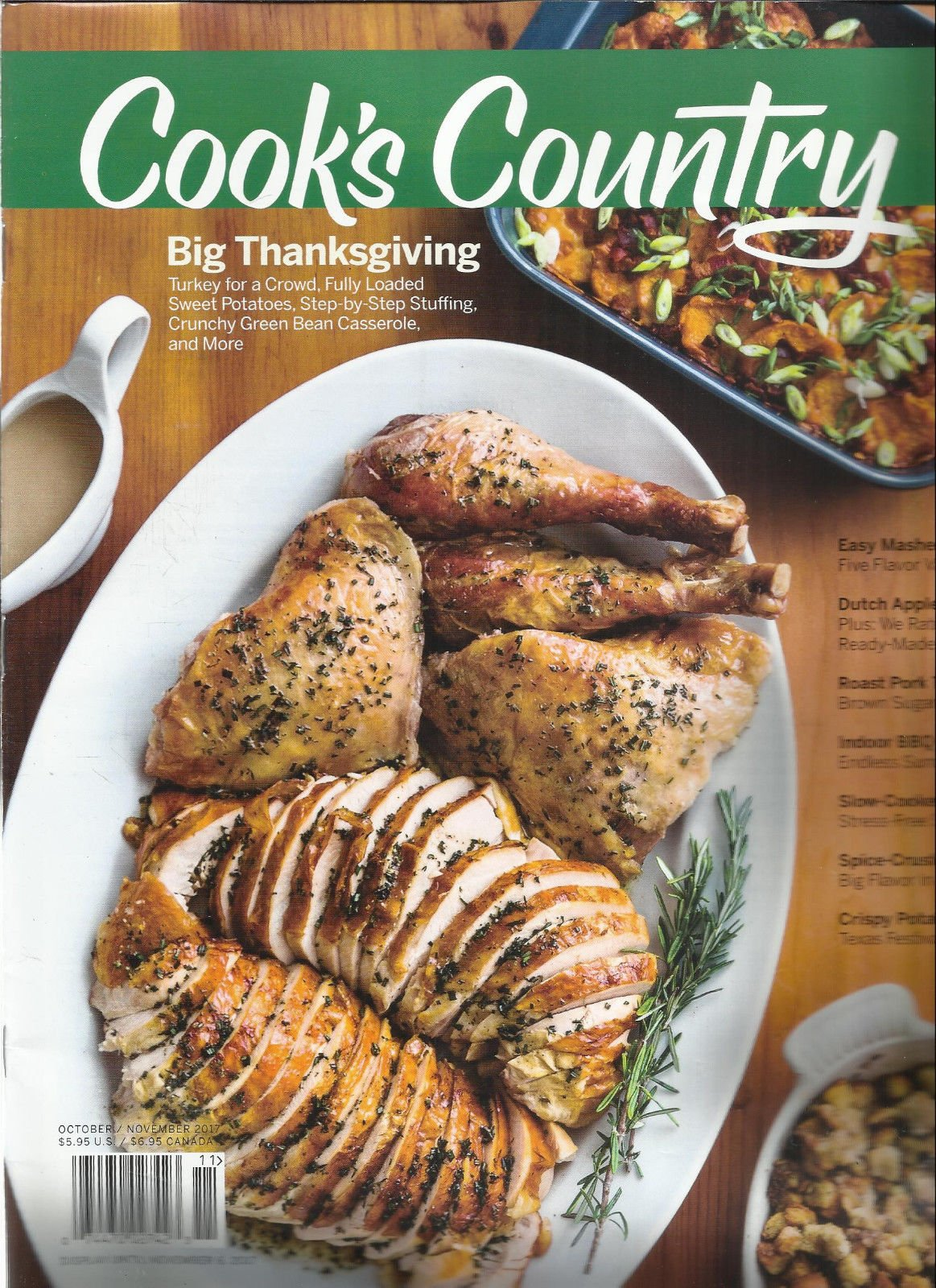 COOK'S COUNTRY MAGAZINE BIG THANKSGIVING, OCTOBER/NOVEMBER, 2017