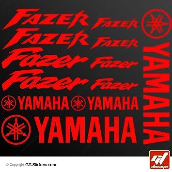 Aufkleber Yamaha Fazer Rot Brett 16 Sticker