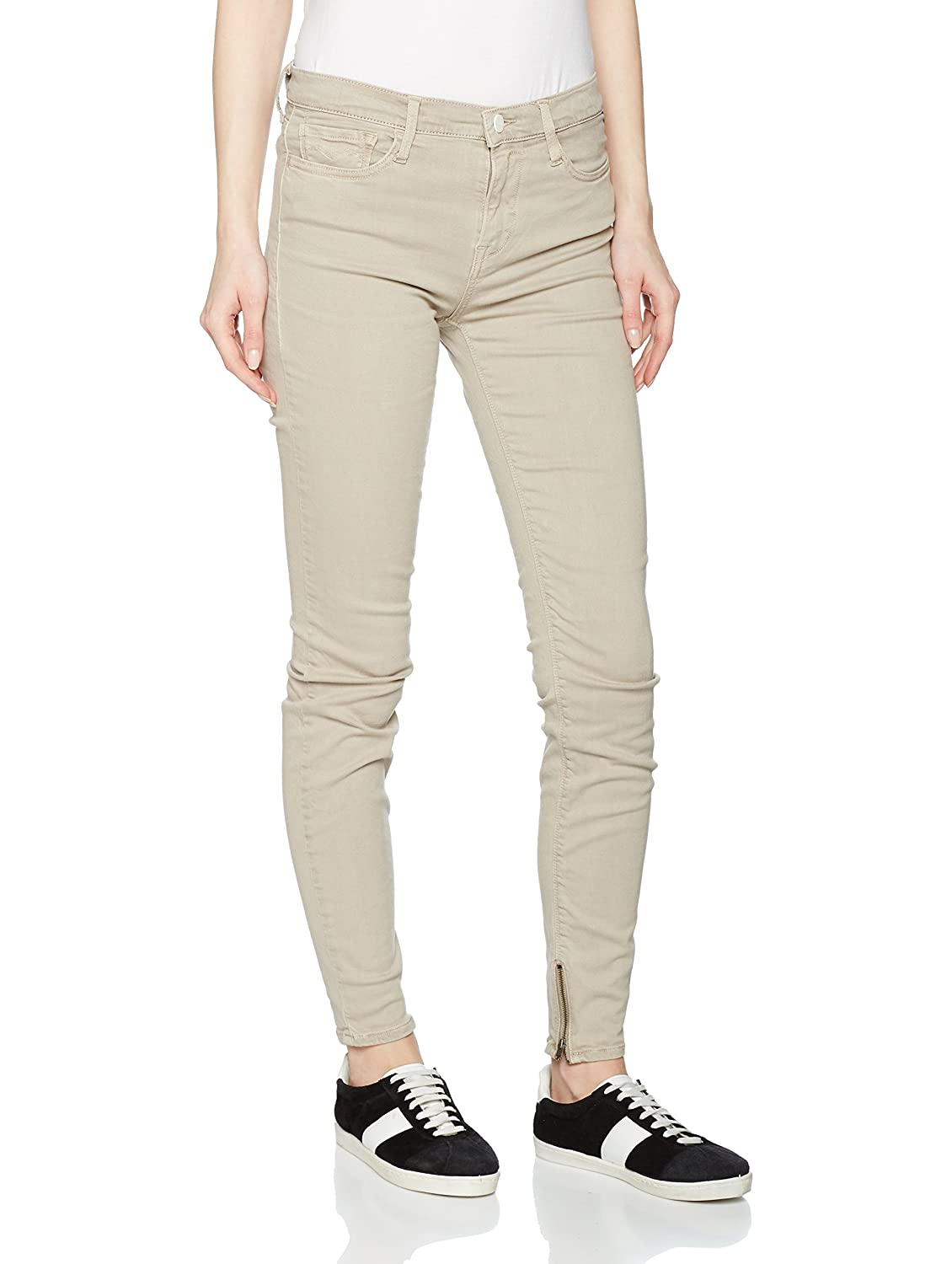 TALLA 24W / 28L. Replay Joi Ankle Zip, Jeans Mujer