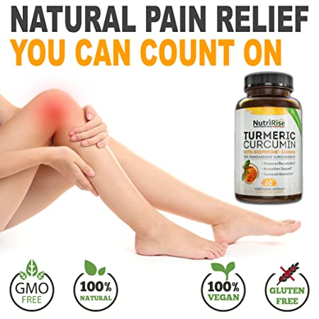 amazon com turmeric curcumin with bioperine 1 best joint supplement for pain relief joint support vegan turmeric capsules with 100 pure turmeric