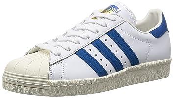 Adidas Superstar 80s unisex niedrige Turnschuhe G61068 37 1-3 Bianco   blu b436db0352