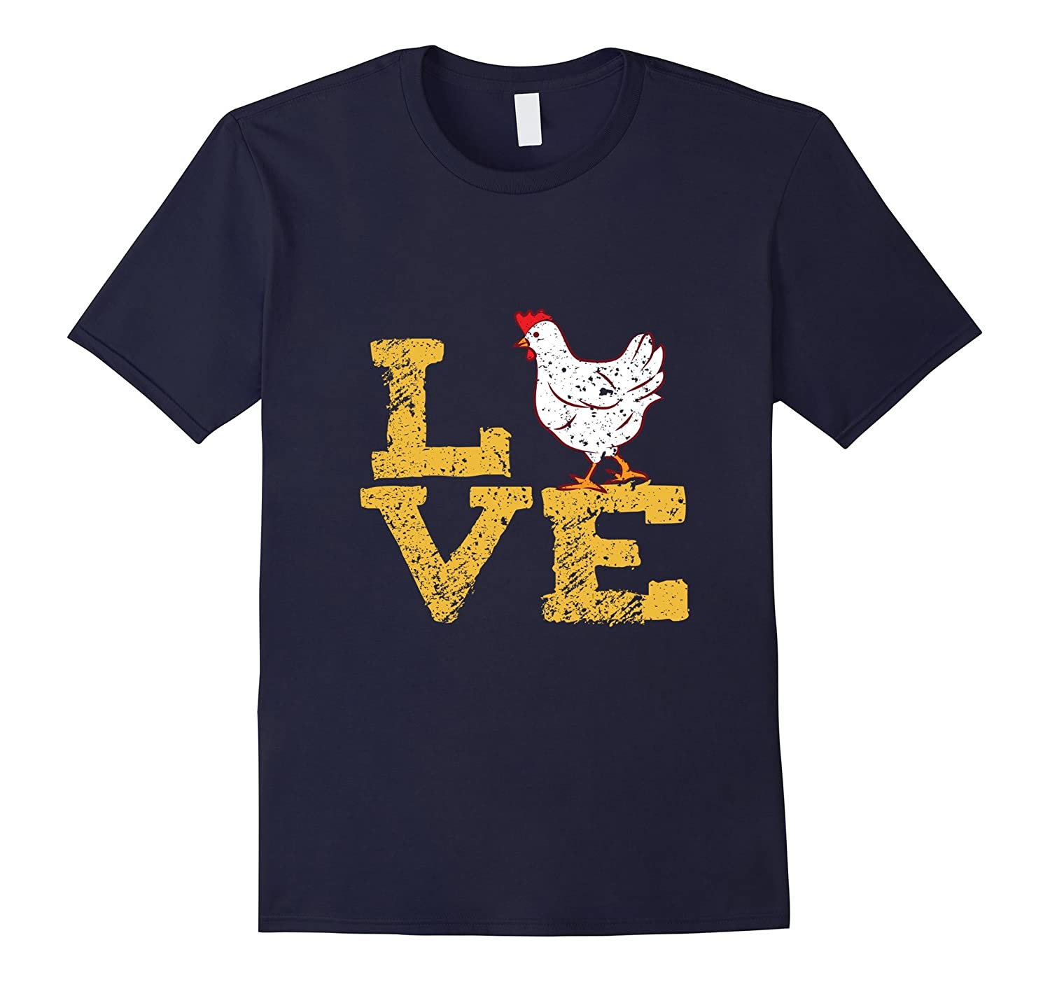 Chicken Love Shirt I Love Chickens Gift for Farmers-FL