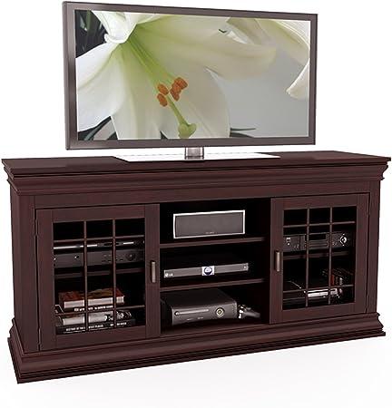 SONAX - Banco Extra Ancho para TV y componentes, Madera, Espresso Oscuro, 60 Pulgadas: Amazon.es: Hogar