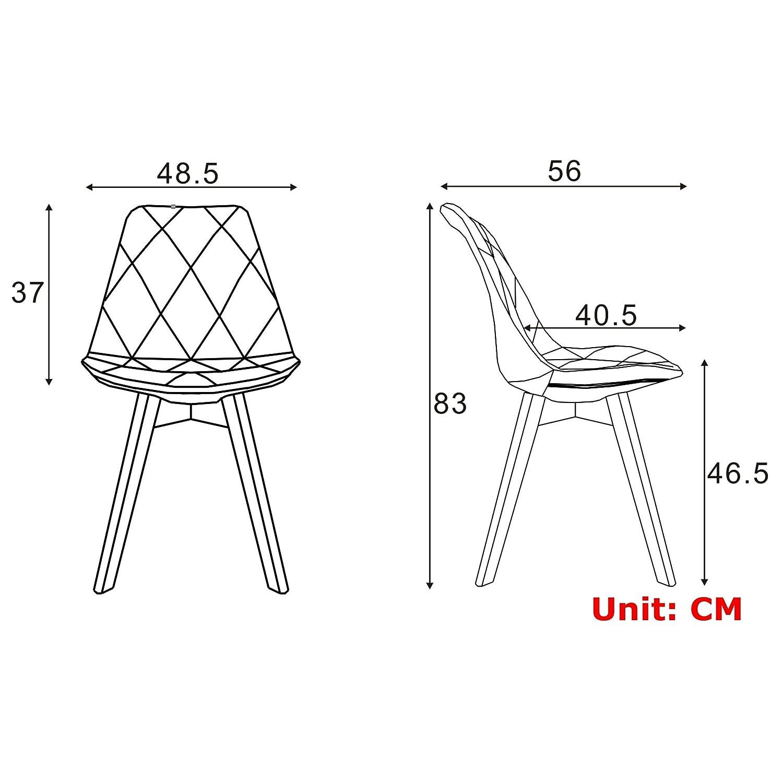 Enjoyable Moustache Fabric High Back Modern Shell Shape Dining Kitchen Short Links Chair Design For Home Short Linksinfo