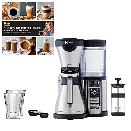 Ninja Coffee Bar w/Thermal Carafe + Cook Book + 2 Cups (Certified Refurbished)