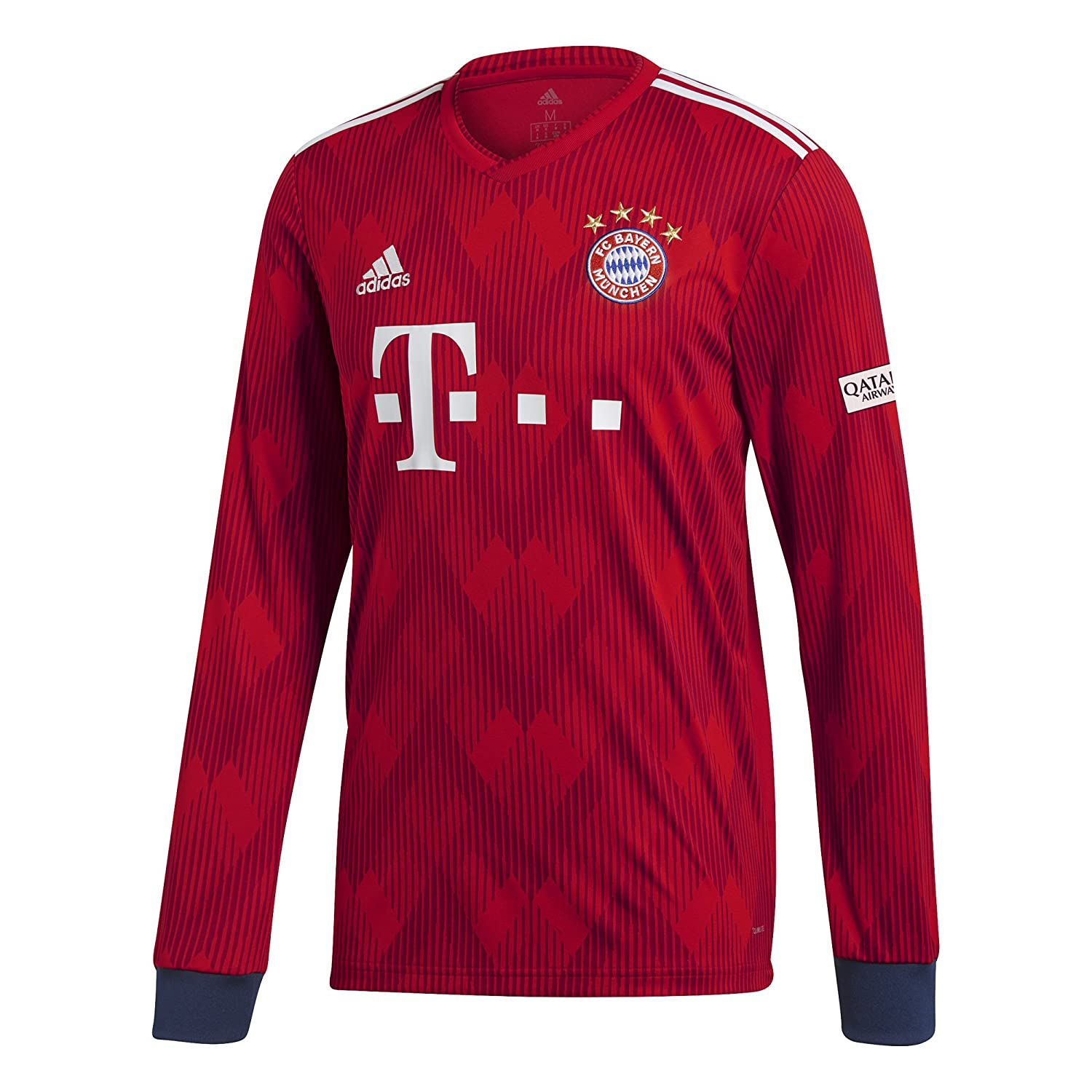 meet 0306a cacc2 adidas 2018-2019 Bayern Munich Home Long Sleeve Football Soccer T-Shirt  Jersey